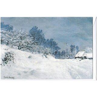 Kunstkarte Claude Monet Bei Honfleur Winterlandschaft