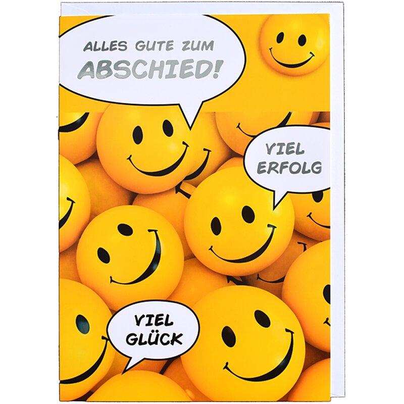 A4 XXL Abschiedskarte Alles Gute - Smileys