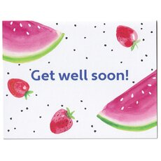 Genesungskarte englisch Get Well Soon - Fruit