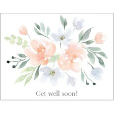 Genesungskarte englisch Get Well Soon - Bouquet