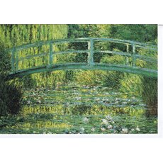 Kunstkarte Monet The Japanese Footbridge (1899)